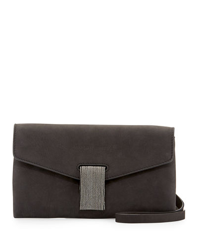 Leather Monili Clutch Bag/Wallet on Strap