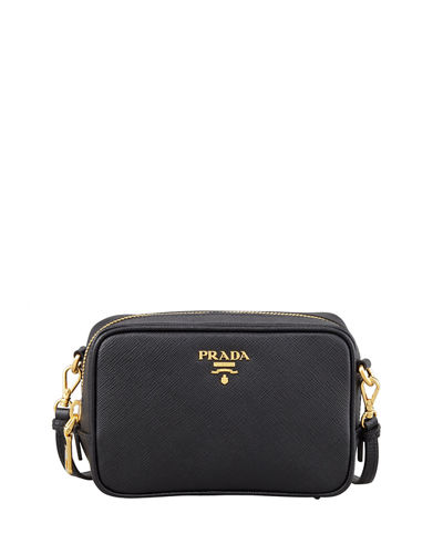 53f25e1009ef Prada Saffiano Mini Zip Crossbody Bag from Neiman Marcus - Styhunt