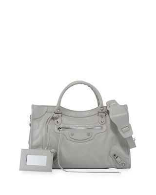 Image 1 of 3: Classic City Lambskin Tote Bag