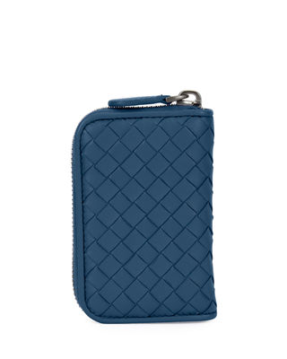 Intrecciato Mini Zip-Around Wallet/Coin Purse