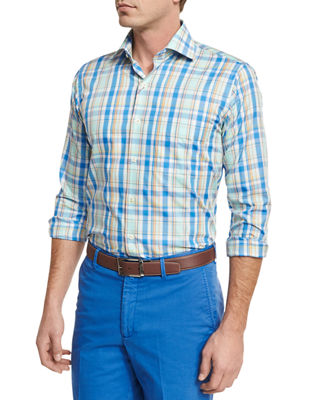 Peter Millar Holiday Plaid Sport Shirt