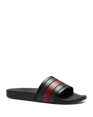 8e9231a233c4 Gucci Pursuit  72 Rubber Slide Sandals