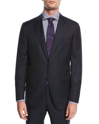 Solid Wool Two-Piece Suit