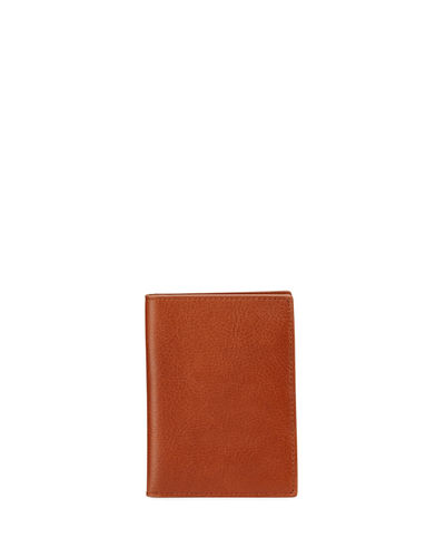 Shinola Men's Leather Passport Holder