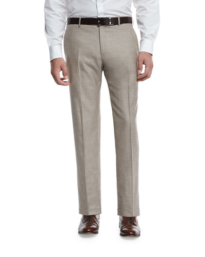 Lightweight Flat-Front Trousers