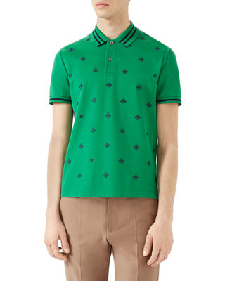 Image 1 of 2: Cotton Polo w/Bees & Stars