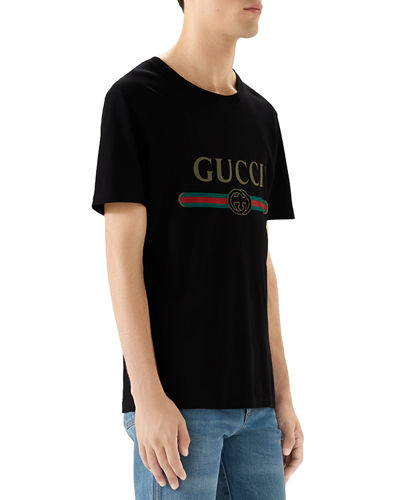 Washed T-Shirt w/GG Print