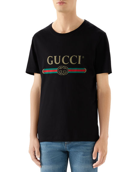 Image 1 of 4: Gucci Washed T-Shirt w/GG Print