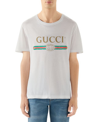 Gucci Washed T-Shirt w/GG Print