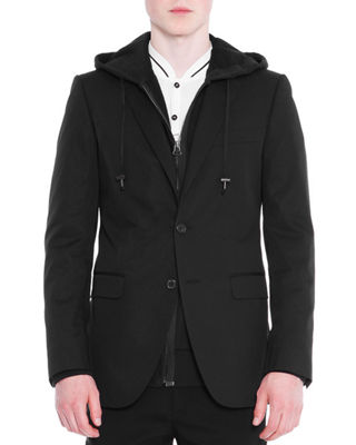 Attitude Two-Button Soft Jacket