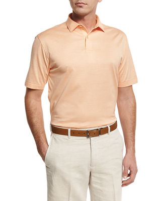 NanoLuxe Sean Cotton Lisle Polo Shirt