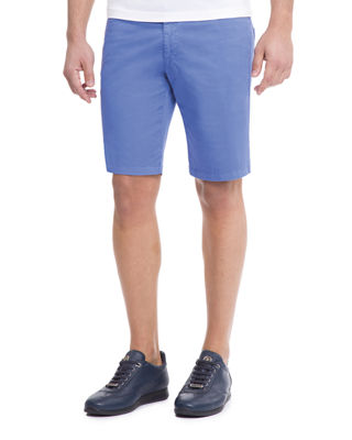 STEFANO RICCI Slim-Fit Denim Shorts in Blue
