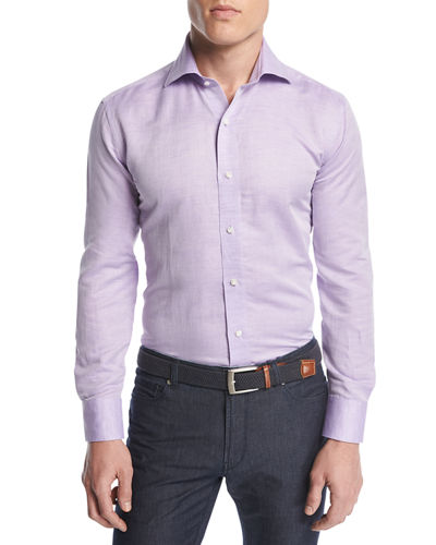 Peter Millar Silky-Touch Linen-Cotton Sport Shirt