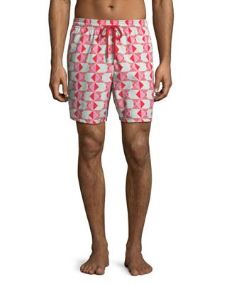 Vilebrequin Moorea Graphic Fish Swim Trunks