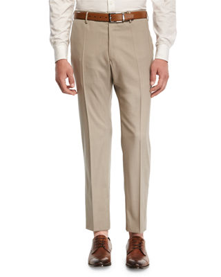 Super 150s Wool Flat-Front Trousers