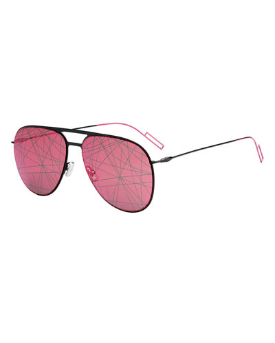 Scribble-Lens Aviator Sunglasses