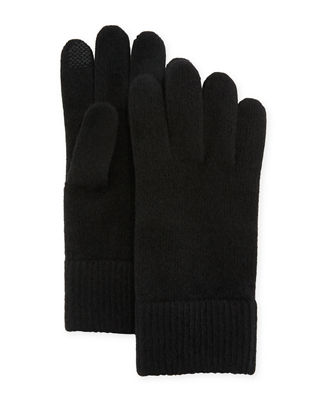 Cashmere Touchscreen Gloves in Black