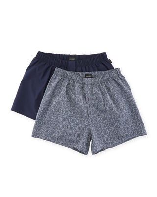 Image 1 of 5: Fancy Woven Boxer 2-Pack Set