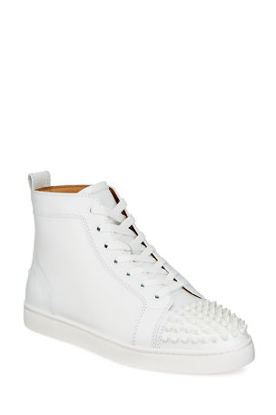 Christian Louboutin Men's Lou Spikes High-Top Sneakers