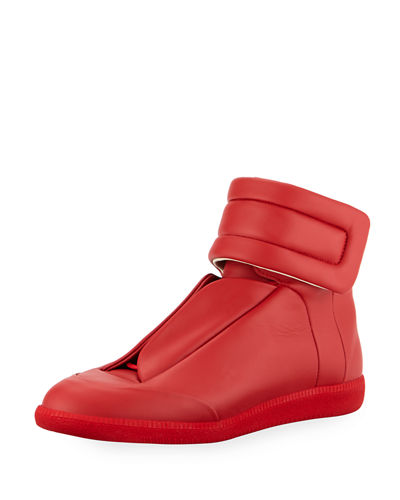Men's Future Leather High-Top Sneaker