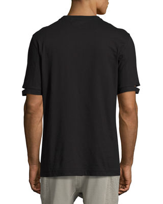 Image 2 of 2: Standard-Fit Cut-Sleeve T-Shirt