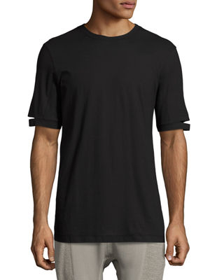 Image 1 of 2: Standard-Fit Cut-Sleeve T-Shirt