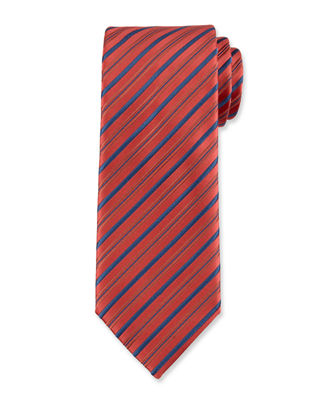 Assorted Silk Striped Ties in Red/Blue