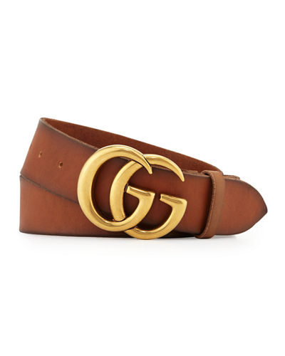 d6d9c4b4886 Quick Look. Gucci · Men s Leather Belt with Double-G Buckle