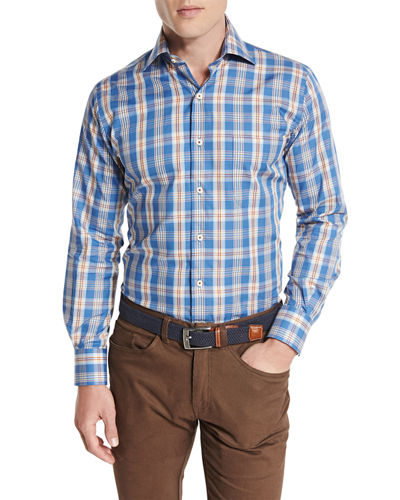 Peter Millar Teton Plaid Oxford Shirt