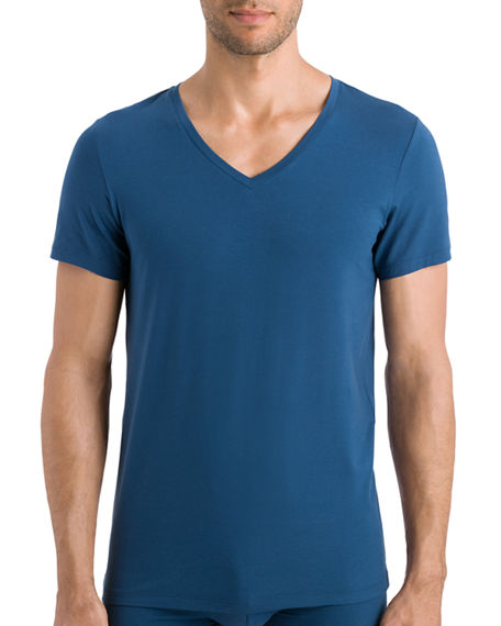 Hanro T-shirts COTTON SUPERIOR V-NECK T-SHIRT