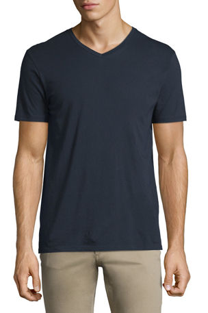 Vince Men's Pima Cotton V-Neck Tee