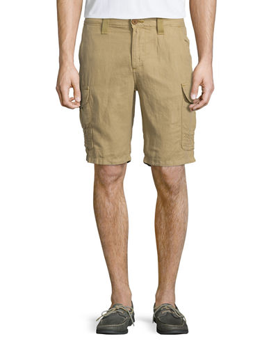 Robert Graham Hiker Linen/Cotton Cargo Shorts