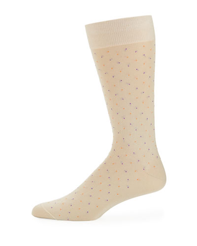 Mid-Calf Pindot Dress Socks