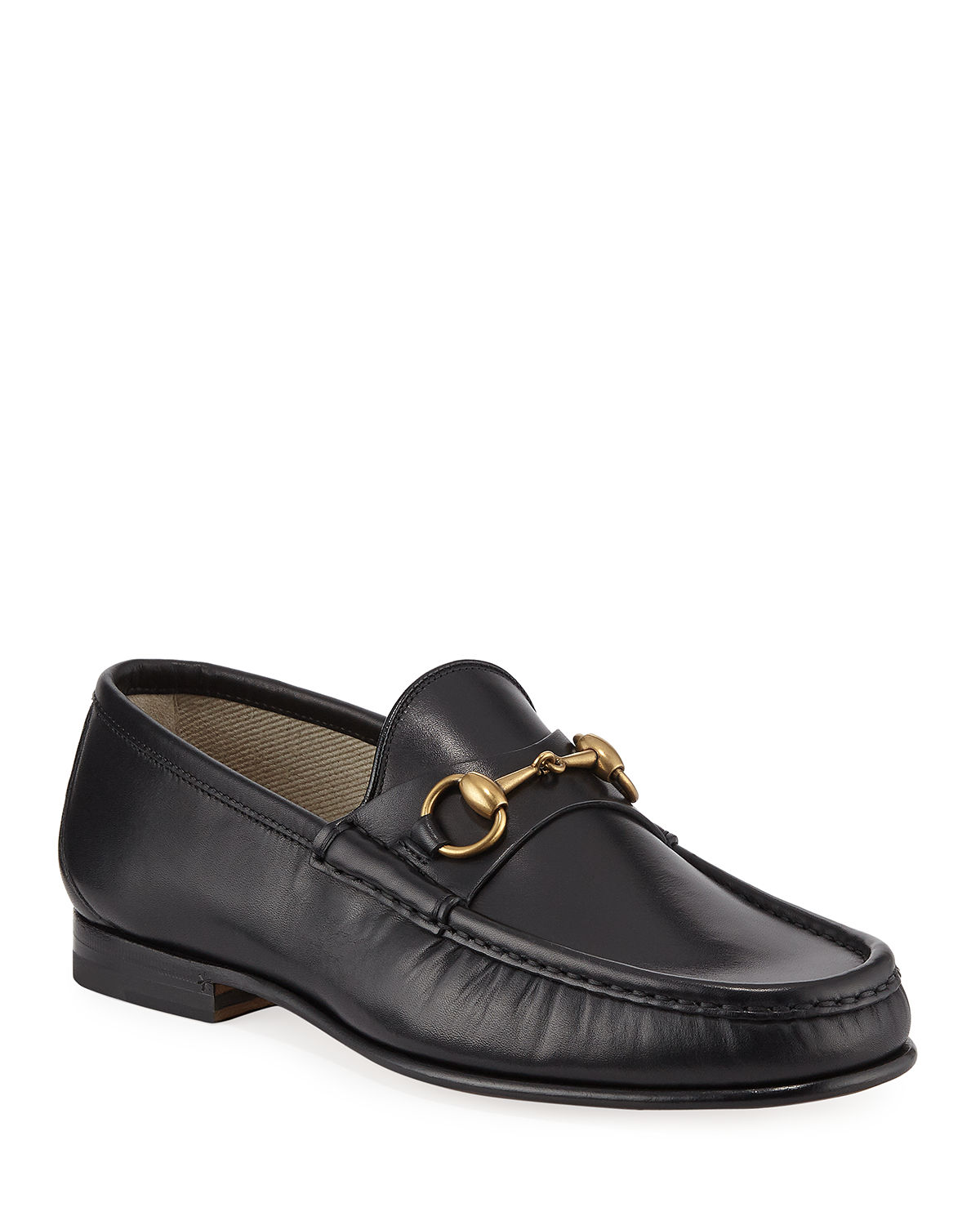 ab2092ba5241 Gucci Leather Horsebit Loafer