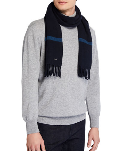 Men's Striped Cashmere Scarf