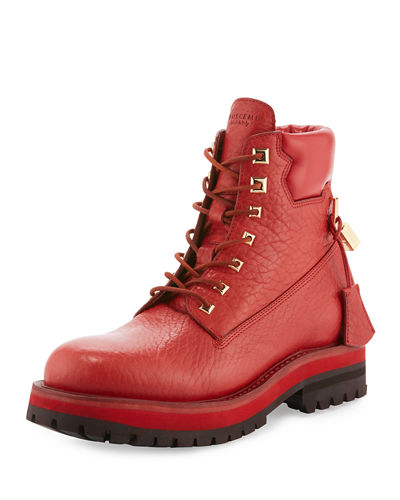 Buscemi Site Leather Lace-Up Hiking Boot