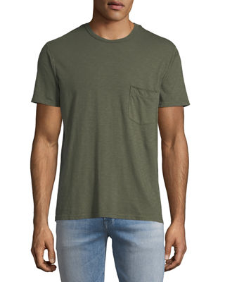 Men's Raw-Pocket Crewneck T-Shirt