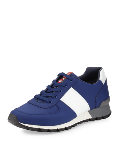Prada Leather & Nylon Running Sneaker