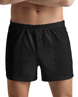 Image 1 of 2: Cotton Sporty Knit Boxer