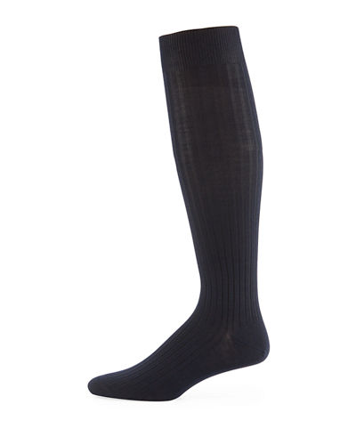 Over-the-Calf Ribbed Socks