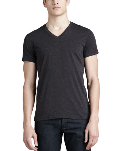 Theory V-Neck Silk-Cotton T-Shirt