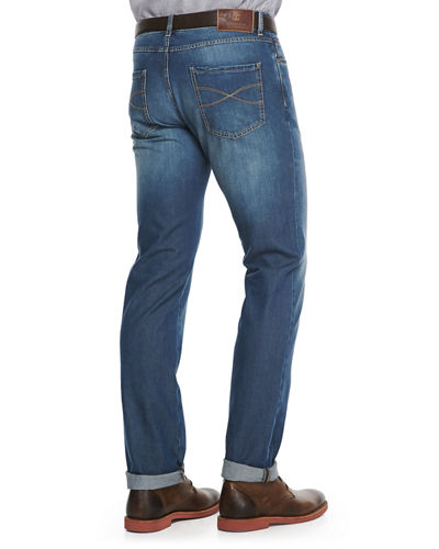 Lightweight Medium Wash Jeans, Indigo