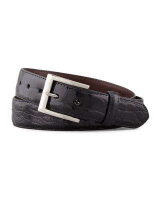 Glazed Alligator Belt