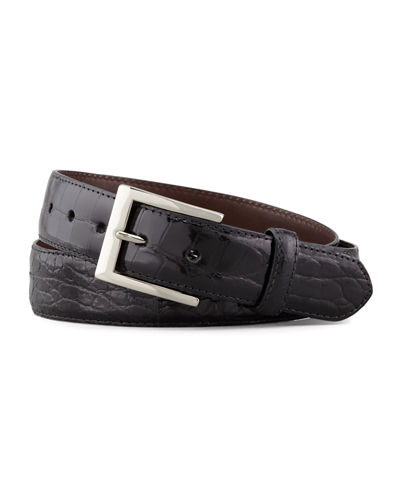 W. Kleinberg Glazed Alligator Belt