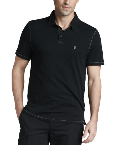 Polo with Pickstitching