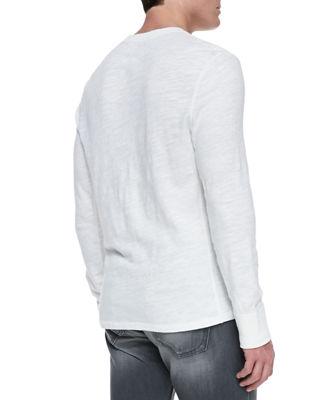 Image 2 of 2: Men's Standard Issue Slub-Knit Basic Henley