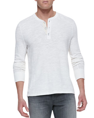 Image 1 of 2: Men's Standard Issue Slub-Knit Basic Henley