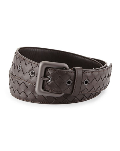 Men's Intrecciato Leather Belt