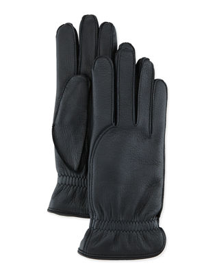 Leather Gloves with Cashmere Lining