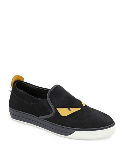 Fendi Men's Monster Slip-On Sneakers